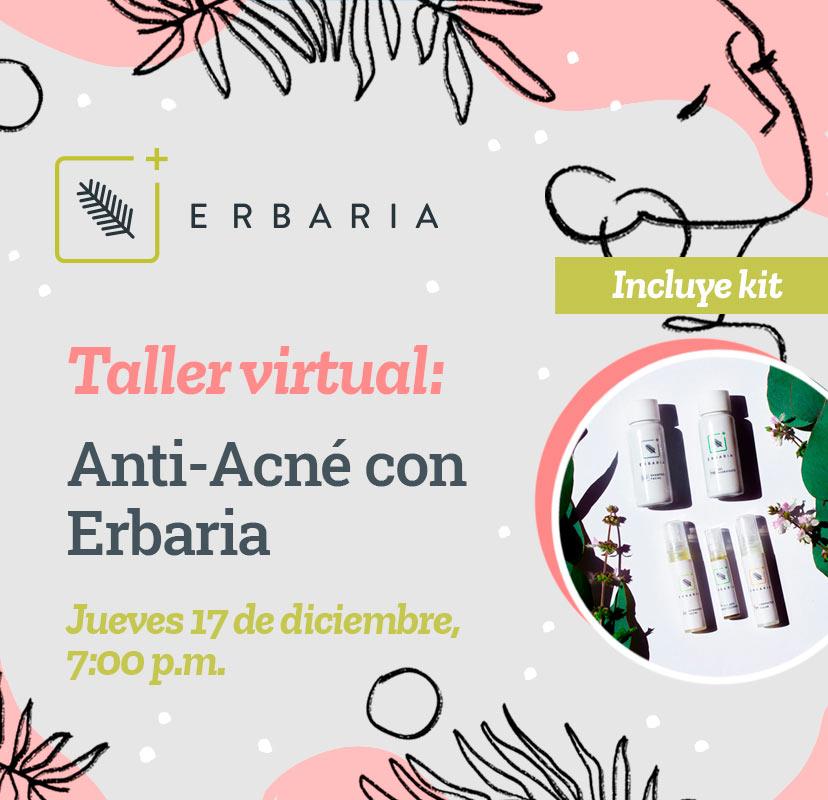 Taller Virtual Anti-Acné con Erbaria