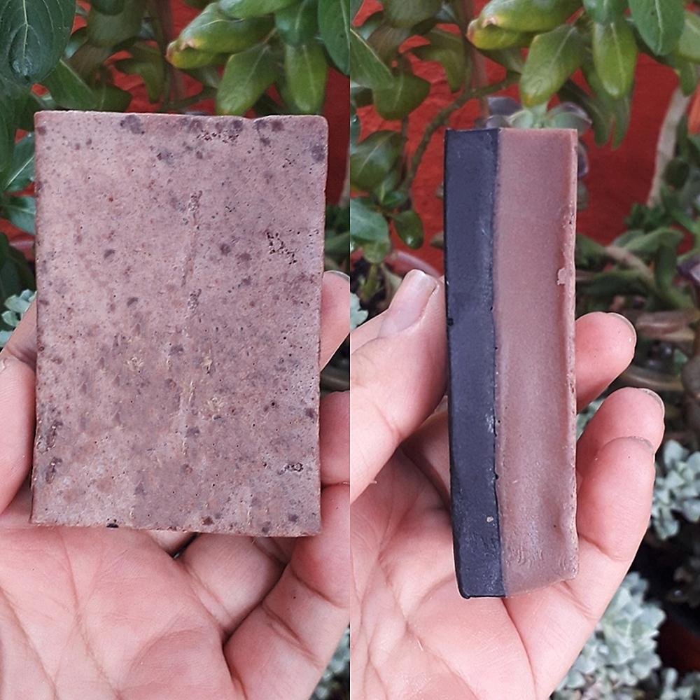 Una Mexicana - Jabón De Arcilla Rosa Y Carbón Activado