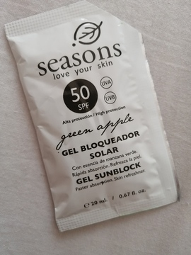 Seasons - Gel Bloqueador Solar FPS 50 Manzana Verde