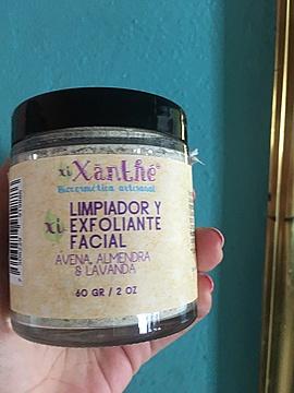 Limpiador y Exfoliante Facial Avena, Almendras & Lavanda