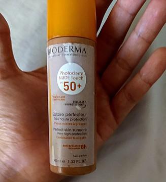 Foto de Bioderma Photoderm Nude Touch FPS 50+ Tono Dorado
