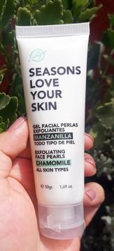 Seasons - Gel Facial Perlas Exfoliantes Manzanilla 100GR