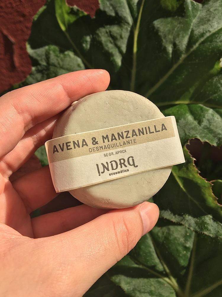 Indra Ecosmética - Crema Facial Desmaquillante Con Manzanilla Y Avena
