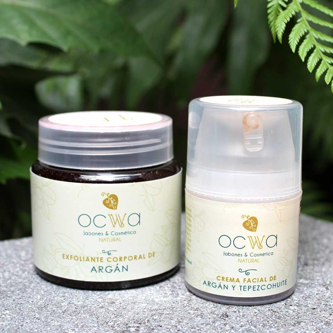 Ocwa exfoliante corporal y crema facial