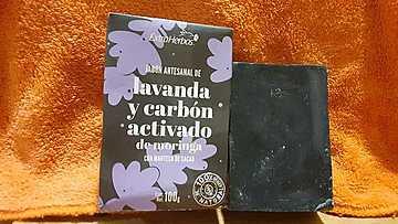 Extraherbos - Jabón de Lavanda y Carbón Activado - Limpieza Profunda, Antipuntos Negros, para Piel Grasa y Mixta