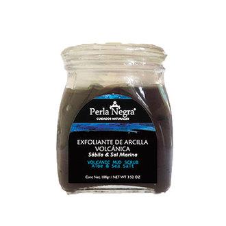 Perla Negra - Exfoliante de Arcilla Volcánica & Sábila