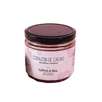 Corazón de Cacao - Exfoliante corporal de Rosas