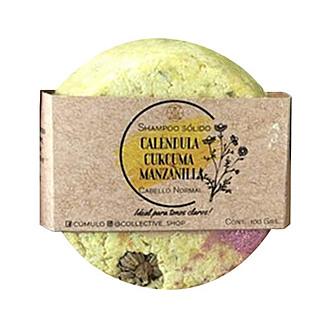 Cumulo - Shampoo Sólido Cúrcuma-Calendula Con Toque de Lavanda y Manzanilla