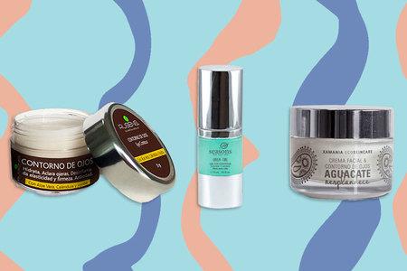 4 productos de marcas de belleza mexicanas que te ayudarán a cuidar tu contorno de ojos y mantenerlo hidratado.