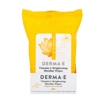 Derma E - Vitamin C Brightening Glow Micellar Wipes