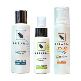 Erbaria - Kit Cuidado Facial Básico (Hidratación)