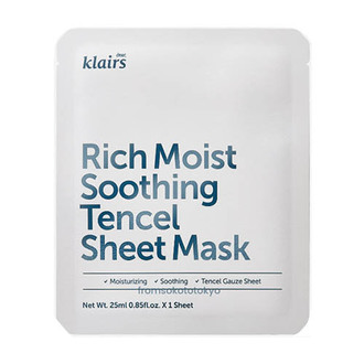 From Soko to Tokyo - Klairs Rich Moist Soothing Sheet Mask