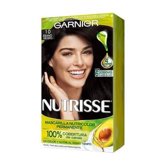 Garnier - Tinte 10 Ébano Negro Nutrisse Regular