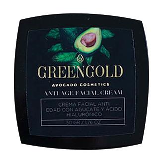 Greengold - Crema Facial Anti Edad con Aceite de Aguacate y Ácido Hialurónico