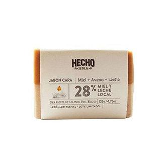 Hecho SMA - Jabón Corporal/Facial Miel + Avena + Leche