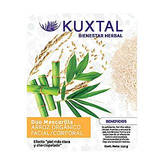 Kuxtal - Duo Mascarilla Arroz Orgánico Facial/Corporal