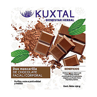 Kuxtal - Duo Mascarilla de Chocolate Facial / Corporal