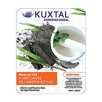 Kuxtal - Mascarilla Purificante de Carbón Activo