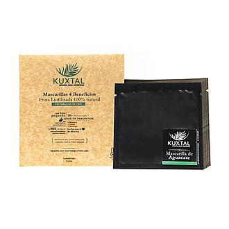 Kuxtal - Mascarillas 4 Beneficios Fruta Liofilizada 100% Natural Aplicación en Frío