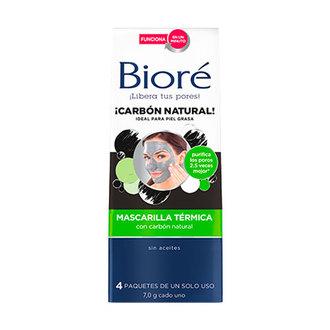 Bioré - Mascarilla Térmica Con Carbón Natural 4 Pzas
