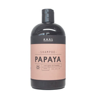 Ahal - Shampoo Papaya con agua de Bamboo