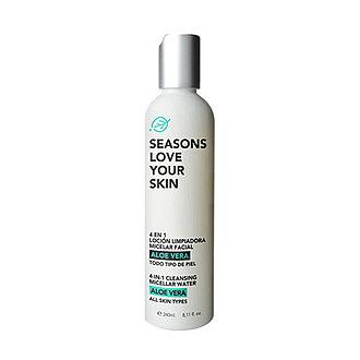 Seasons - 4 en 1 Loción Limpiadora Micelar Facial Aloe Vera