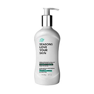 Seasons - Crema Hidratante Ultralight Corporal Loción de Seda Vitamina E + Omegas 230GR