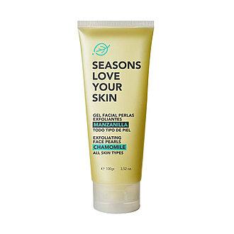 Seasons - Gel Facial Perlas Exfoliantes Manzanilla