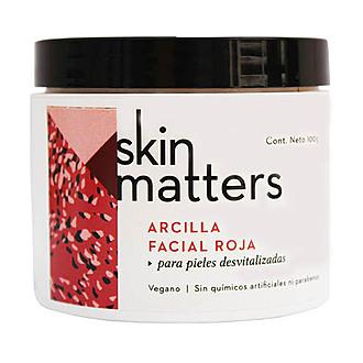 Skin Matters - Arcilla Facial Roja - Exfoliante Revitalizante 70 gr