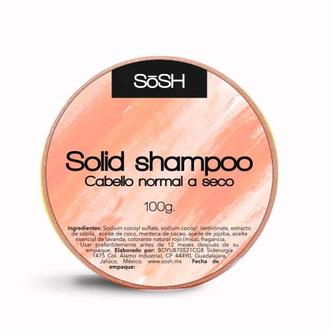 Sosh - Shampoo Sólido Para Cabello Normal A Seco 100 g.