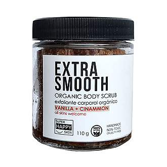 Super Happy Skin - EXTRA SMOOTH organic body scrub vanilla + cinnamon