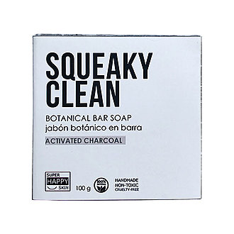 Super Happy Skin - SQUEAKY CLEAN botanical bar soap activated charcoal