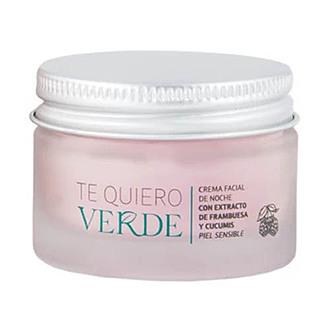 Te Quiero Verde - Crema Facial de Noche con Extracto de Frambuesa y Cucumis
