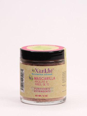 XiXänthé - Mascarilla Facial Purificante Arcillas, Sábila & Árbol de Té
