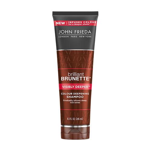 BRILLIANT BRUNETTE. Visibly Deeper Shampoo